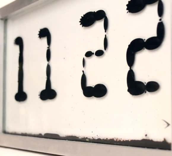Magnetic blobs that tell time.