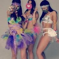 Kandi Gear Pink Hearts Kandi Mask Girl Rave Party Accessory to BUy