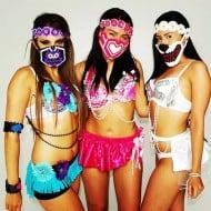 Kandi Gear Pink Hearts Kandi Mask Sexy Rave Girls