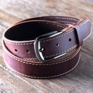 Leather Belt with Ninja Hidden Pocket  Buy for Him