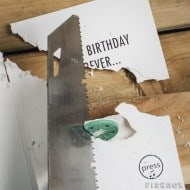 Never-ending Birthday Card Ripped Paper
