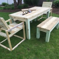 Repurposed by Rob Patio Picnic Table Drink Coolers Cool Furniture