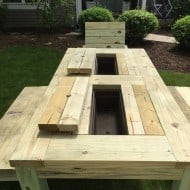 Repurposed by Rob Patio Picnic Table Drink Coolers Outdoor Furniture