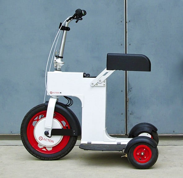 Speed things up with a foldable electric scooter.