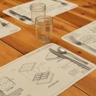 Awkward Engineer Engineering Blueprint Placemat Set Creative Product Design