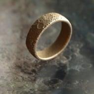 Cunicode 3D Printed Moon Ring Cool Fashion Wear