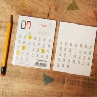 Dubu Dumo Monthly Planner Sticky Note Post it Calendar