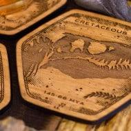Fringe Focus Dinosaur Fossil Coasters Cretacious