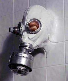 You cannot relax in the shower anymore.