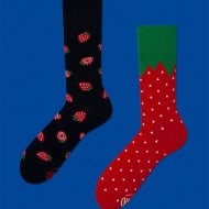 Many Mornings Mismatched Strawberry Socks Gift for Geeky Girlfriend