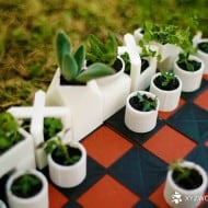 Micro Planter Chess Set Cute Game