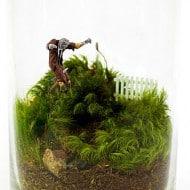Moss Love Beware Tiny Zombie Terrarium Geeky Gift Idea