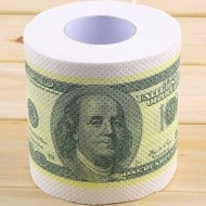 One Hundred Dollar Bill Toilet Paper Funny One Hundred Dollar Roll