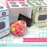 Retro Oven Cupcake Box by Claudine Hellmuth  Cute Gift Packaging