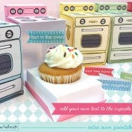 Retro Oven Cupcake Box by Claudine Hellmuth  DIY Template