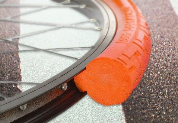 Solid tires for a safer bike ride.