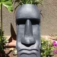The Tiki Shop Easter Island Planter Weird Garden Design