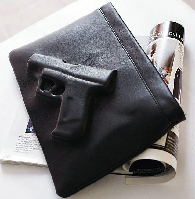 Blow them away with a handbag.