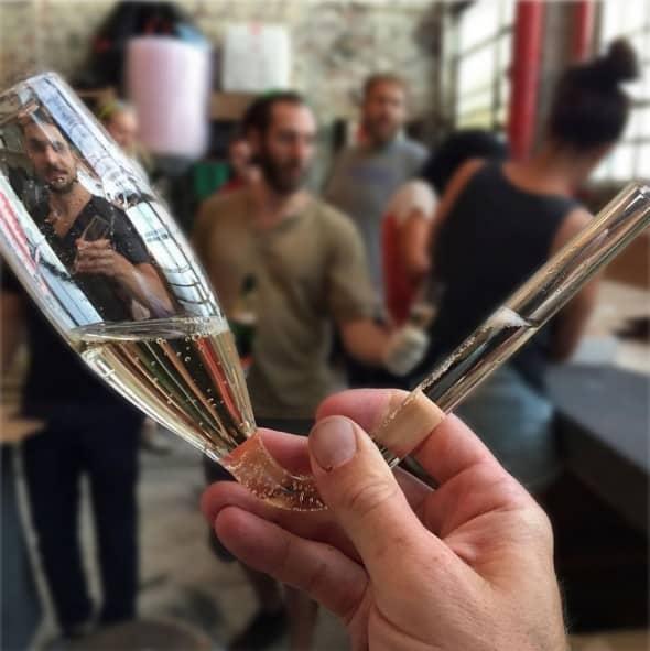 Champagne hit!