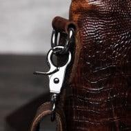 Crocodile Grain Messenger Bag Hook