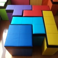 Cromaleon Tetris-shaped Storage Benches Geeky Furniture