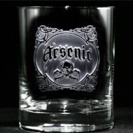 Crystal Imagery Name your Poison whisky Glass Arsenic Buy Cool Boyfriend Gift Idea
