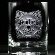 Crystal Imagery Name your Poison whisky Glass Cool Dad Gift Idea Hemlock