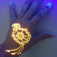 Electronic Girl Glow in the Dark Henna Kit Rave Party