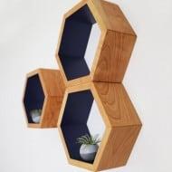 Haase Handcraft Honeycomb Shelving Minimalist Home Style