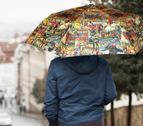 Battle the weather with your favorite superheroes.