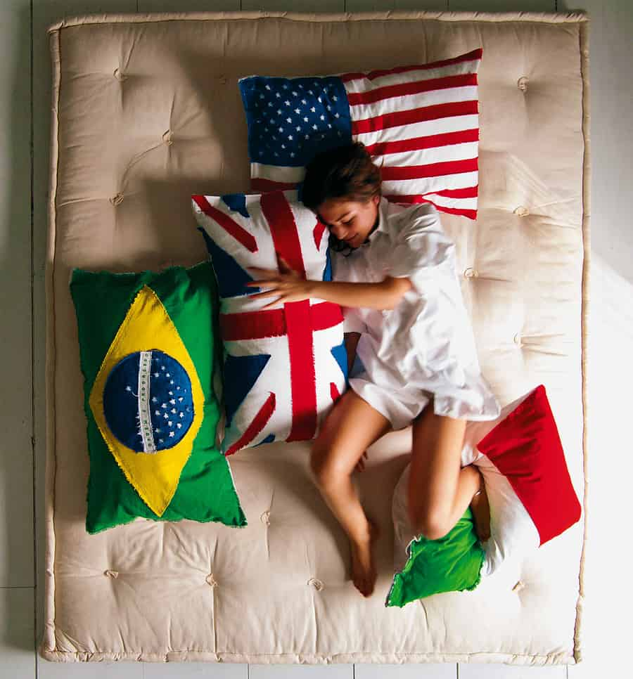 Sleeping with your country – not weird.