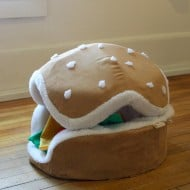 The Cats Paw Botique Hamburger Cat and Small Dog Bed Cute Stuff to Buy