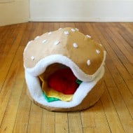 The Cats Paw Botique Hamburger Cat and Small Dog Bed Pet Gift Idea