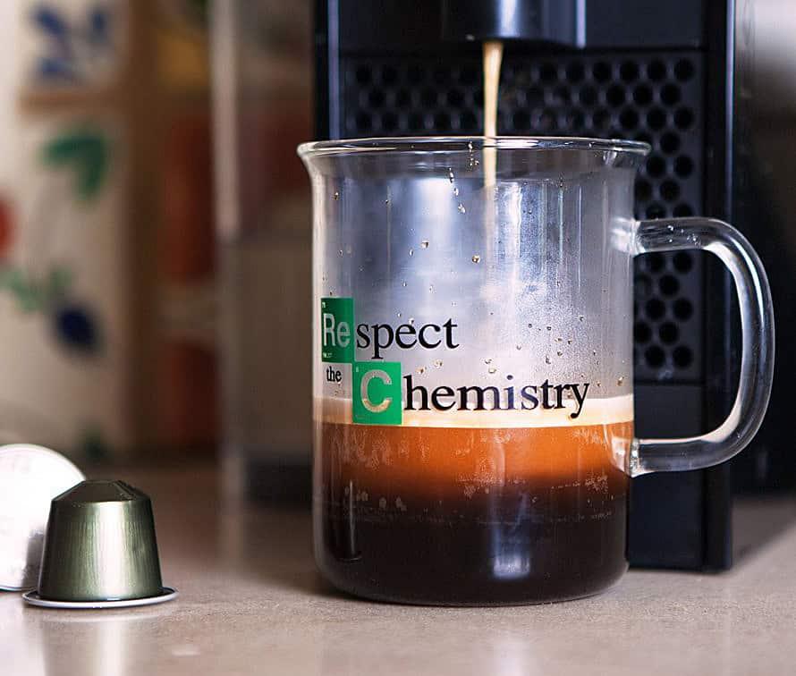 Enjoy your coffee like a mad scientist.
