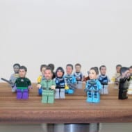 Funky 3D Faces  3D Printed Head for Lego Minifigures Creepy Gift Idea