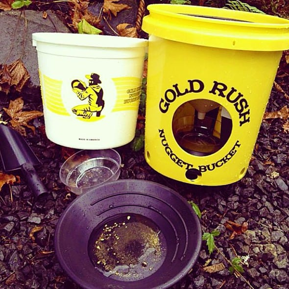One bucket and a lot of gold!