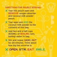 Good To-Go Dehydrated Thai Curry Meal Instructions