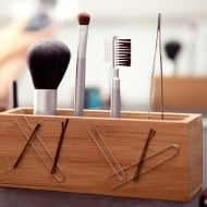 Quirky Writers Block Cool Make Up Organizer