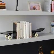 Skate Home Skateboard Bookends Hip Gift Idea to Buy