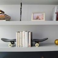 Skate Home Skateboard Bookends Hipster Gift Idea