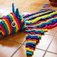 Some Rabbits Felt Piñata Skin Rug Cool Party Decoration
