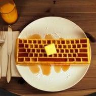 The Keyboard Waffle Iron Comfort Food