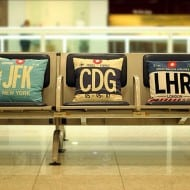 Airportag JFK Throw Pillow Gift Idea for Travelers