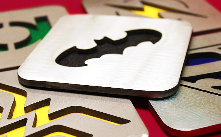 Call on the Justice League to protect your furniture from spills.