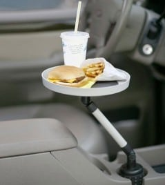 Let the tray hold your food while you drive.