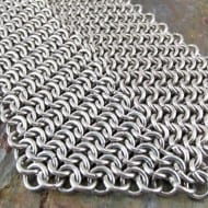 Creative Reflections Chainmaille Neck Tie Weird Fashion Accessory to Buy