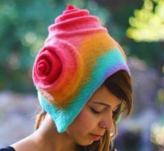 Unique and colorful hat for those cold and lonely days.