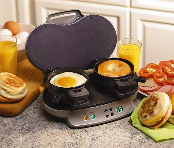 All-in-one breakfast sandwich maker.