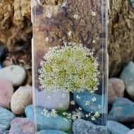 House of Blings Dried Pressed Flowers Phone Clear Case Niece Gift Idea