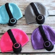 Hug A Bug Kids Crocheted Headphone Hat Kid Fashion